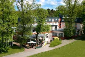 Aussenansicht des Hotels am Schweizer Wald.