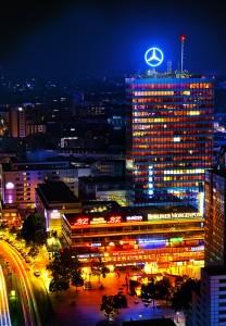 Das Europa-Center am Breitscheidplatz bei Nacht. Foto: DIE BRANDENBURGS