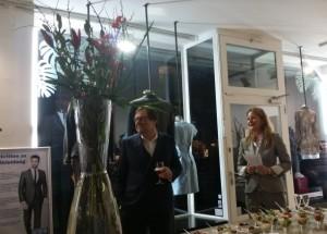 André und Beate Lecloux bei der Feier zur Filialeröffnung.