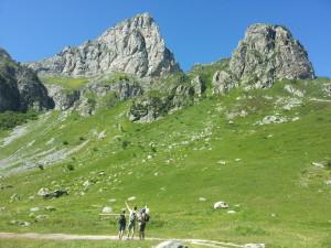 Wanderung zur Berghütte Havis De Giorgio.
