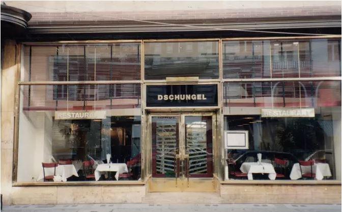 Fassade des ehemaligen Dschungel-Restaurants