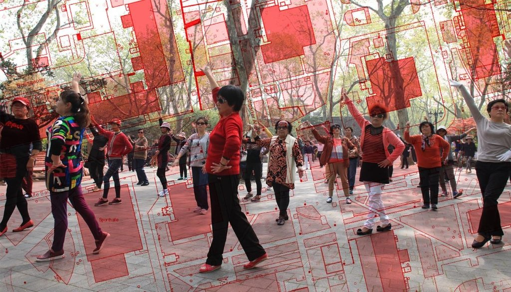 Tanzen auf dem Ernst-Reuter-Platz.