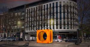 Die Jugendkunstschule stellt eine neue begehbare Skulptur auf dem Kudamm auf. Simulation: Jugendkunstschule